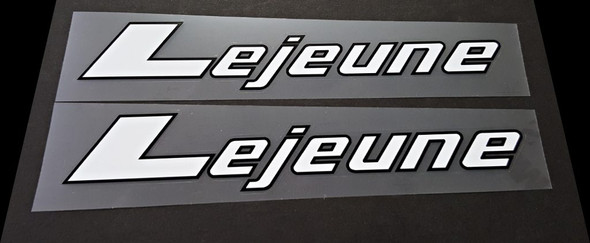 Lejeune Down Tube Decals - 1 Pair - Choice of Colors