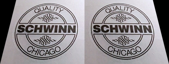 Schwinn Seat Tube Badge Decals - 1 Pair - Choose Color