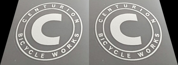 Centurion Bicycle Works Head Badge Decal - 1 Pair - Choose Color