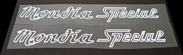 Mondia Bicycle Down Tube Decals - 1 Pair - Choose Outline/Shadow Color