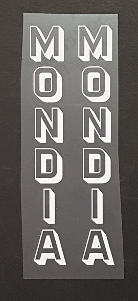 Mondia Bicycle Seat Tube Decals - 1 Pair - Choose Outline/Shadow Color