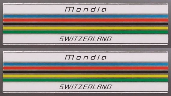 Mondia Bicycle Chrome Stripes Decals - 1 Pair