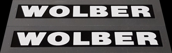 Huffy / Wolber Bicycle Stay Decals - Set of 2 - White on Black