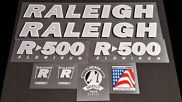 Raleigh 1999 R-500 Bicycle Decal Set