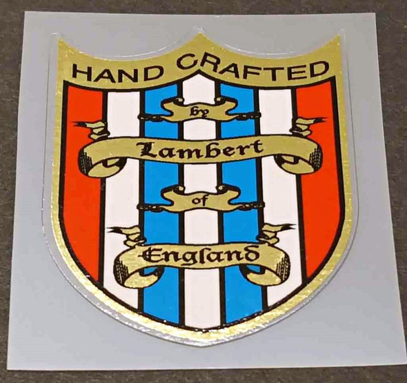 Lambert Head Badge Decal with Mirror Gold