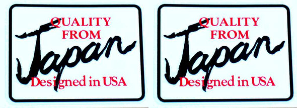 Quality from Japan Decals - 1 pair - choose colors