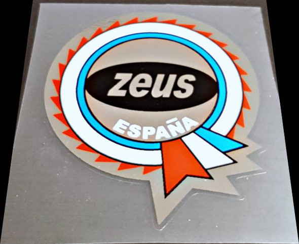 Zeus Bicycle Chrome Espana Badge Decal
