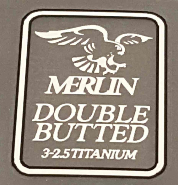 Merlin Double Butted Tubing Decal - Choice of color
