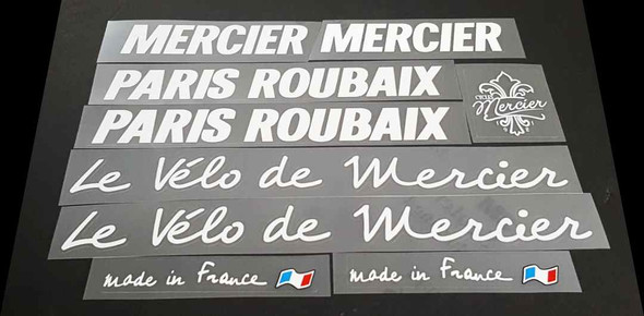 Mercier Paris Roubaix Bicycle Decal Set