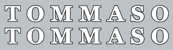 Tommaso Down Tube Decals - 1 Pair - Choose Colors