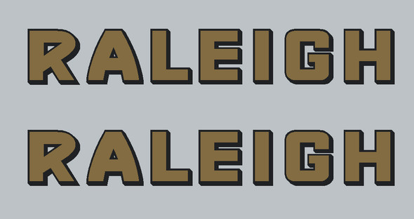 Raleigh -Old Style - Stay Decals  - 1 Pair
