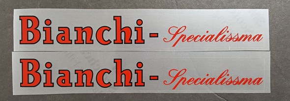 Bianchi Specialissma Down Tube Decals-1 Pair - Choice of Colors