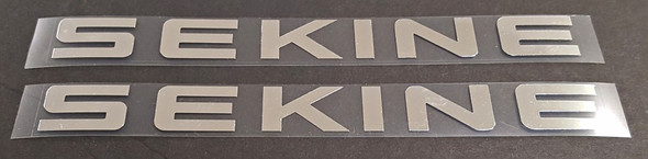 Sekine Bicycle Chrome Down Tube Decals - 1 Pair - Choose Finish