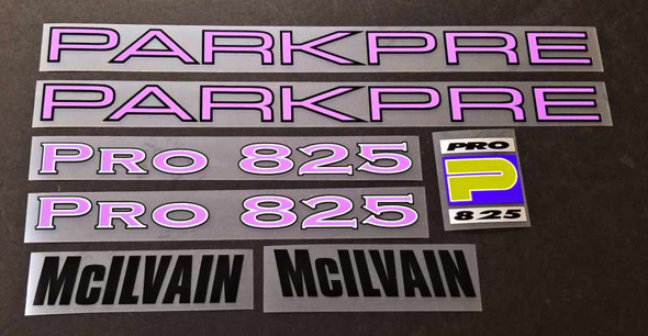 Parkpre Pro 825 Bicycle Decal Set