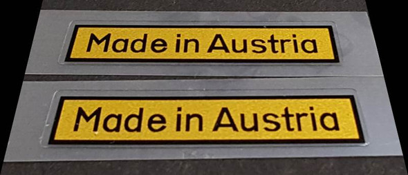 Made in Austria Decal - 1 Pair (sku Aust102)