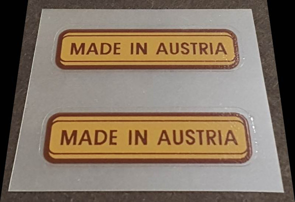 Made in Austria Decal - 1 Pair (sku Aust103)