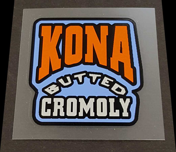 Kona Butted Cromoly Tubing Decal
