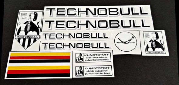 Technobull Bicycle Decal Set