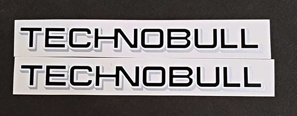 Technobull Bicycle Down Tube Decals - 1 Pair - Choose Color