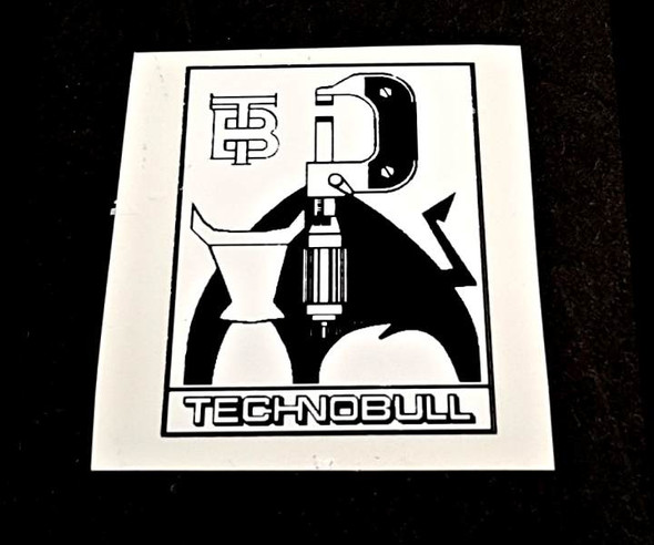 Technobull Bicycle Seat Tube Badge Decal