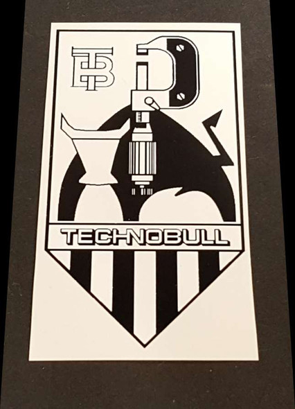Technobull Bicycle Head Badge Decal