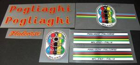 Pogliaghi Bicycle Decal Set