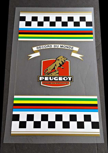 Peugeot  1960s-70s Clear Seat Tube  Wrap Decal - Mixte