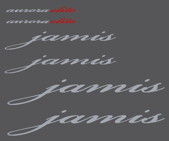 Jamis Silver and Red Decal Set