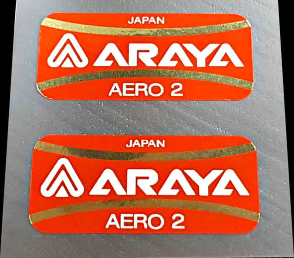 Araya Aero 2 Bicycle Rim Decals - 1 Pair