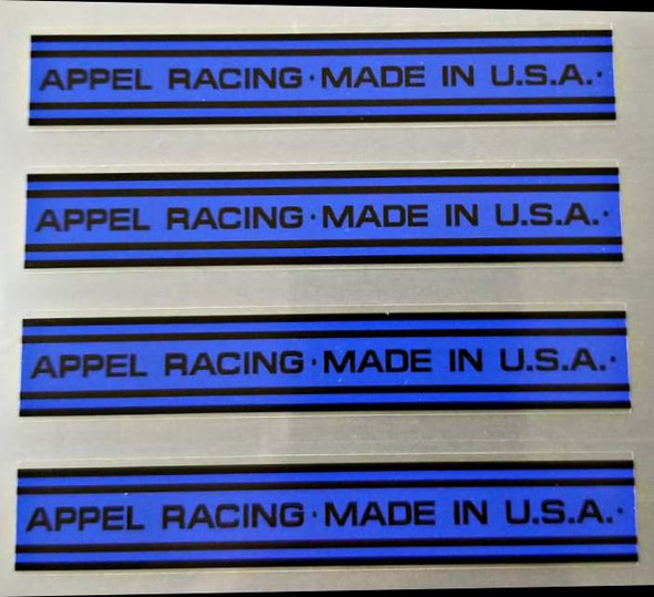 Appel Bicycle Band Decals - 2 Pair - Choose Colors