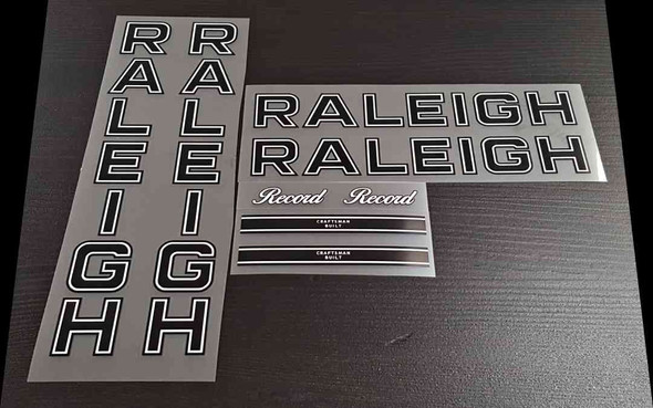 Raleigh Record Bicycle Decal Set