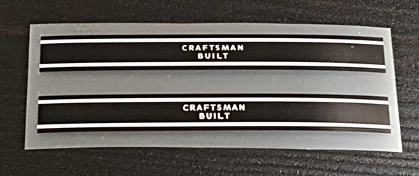 """Raleigh Record Bicycle """"Craftsman Built"""" Band Decals - 1 Pair - Choose Color"""