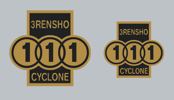 3 Rensho Cyclone Badge Decals - 1 Pair