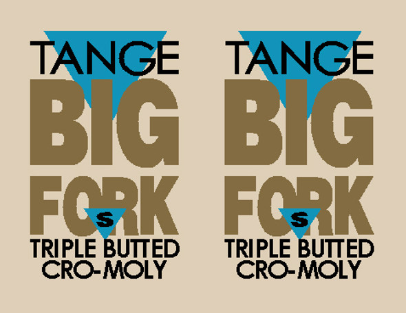 Tange Big Fork for Trek Fork Decals - 1 Pair