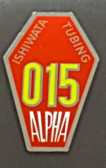 Ishiwata Alpha 15 Frame Decal - Red and Chrome