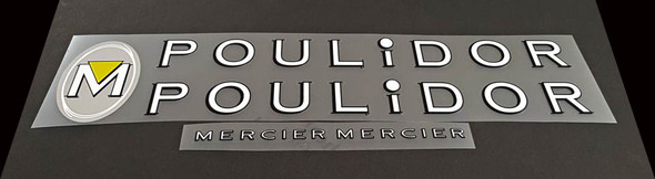 Mercier POULIDOR Bicycle Decal Set