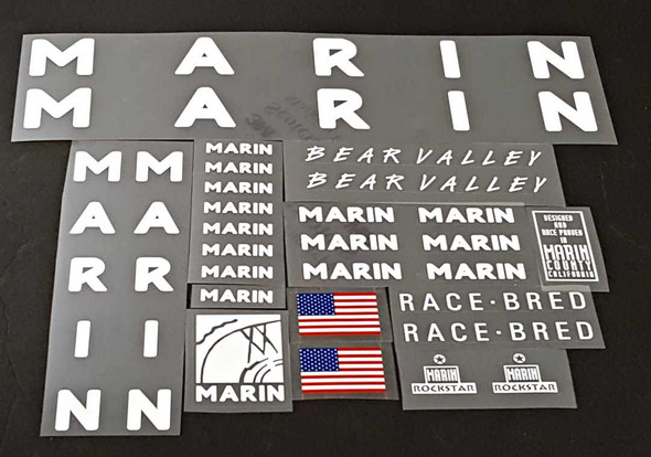 Marin Bear Valley Bicycle Decal Set