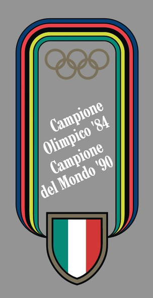 Pinarello Olympic Stripes Decal - Choose Letter Color