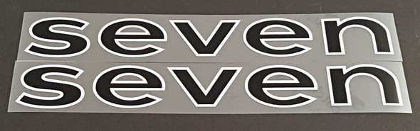 Seven Cycles Down Tube Decals - 1 Pair - Choose Colors