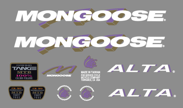 Mongoose Alta Decal Set