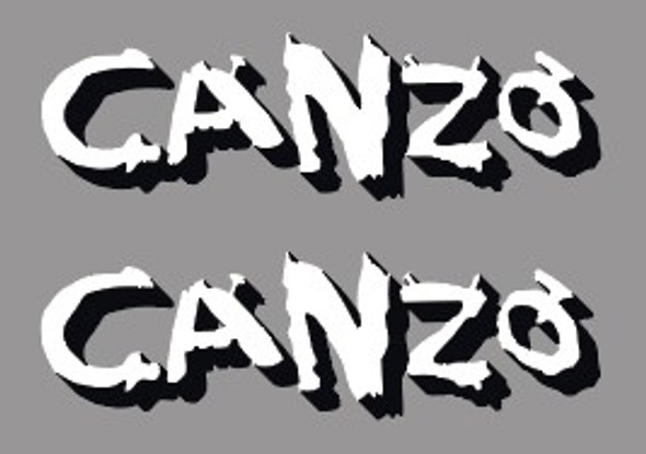 Voodoo Canzo Top Tube Decals - 1 Pair - Choose Color