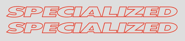Specialized Clear Center Top Tube Decals  - 1 Pair - Choice of Colors