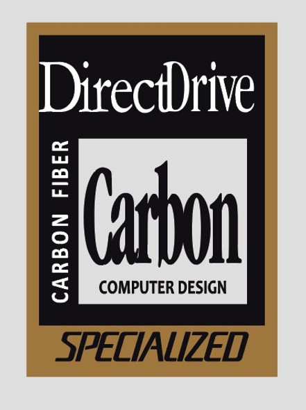 Specialized Direct Drive Carbon Tubing Decal - 1 Piece