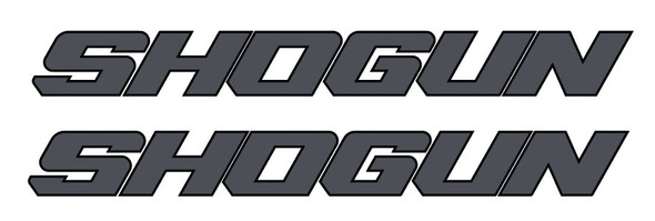 Shogun Down Tube Bicycle Close Letters Decals  - 1 Pair - Choose colors