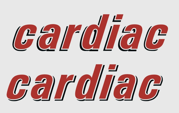 Rocky Mountain Cardiac Top Tube Decals - 1 Pair - Choice of Colors