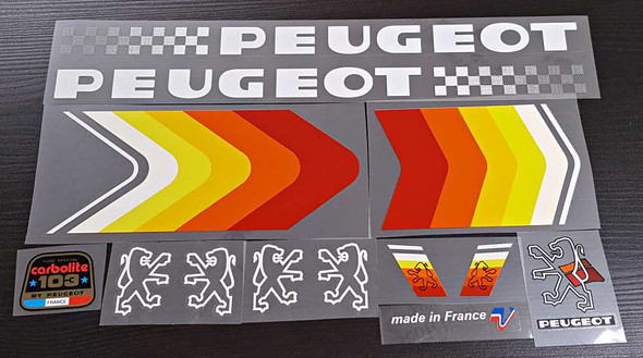 Peugeot PY10FCY Bicycle Decal Set