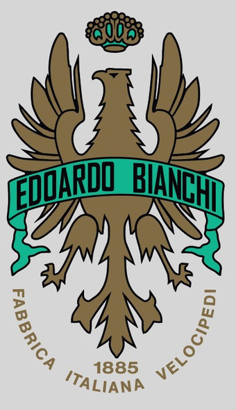 Bianchi Head Badge - With Lettering Below (Choose Banner Color)
