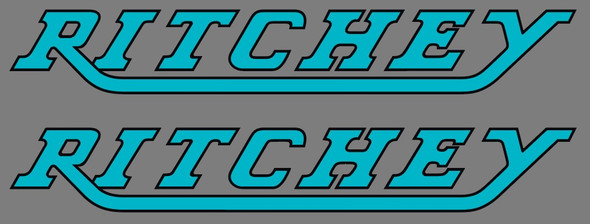 Ritchey Large Down Tube Decals with outline - 1 Pair - Choose Colors