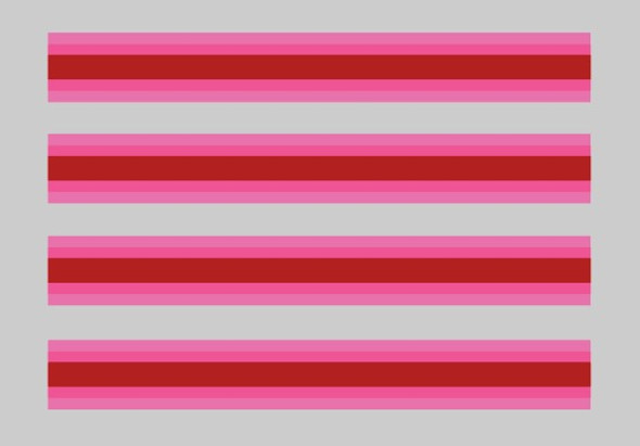 Schwinn Le Tour II 1979 Fork Stripes Pink and Red - Set of 4