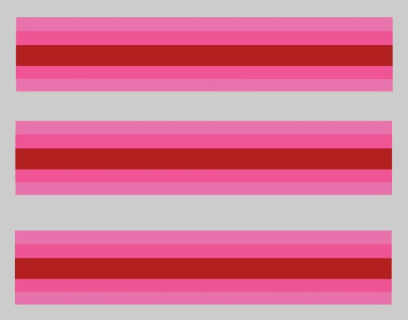 Schwinn Super Le Tour II  1979 Stripes Pink and Red- Seat Tube decals - 3 Pieces
